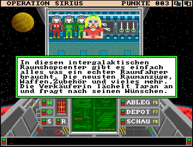 Operation Sirius für Amiga Computer